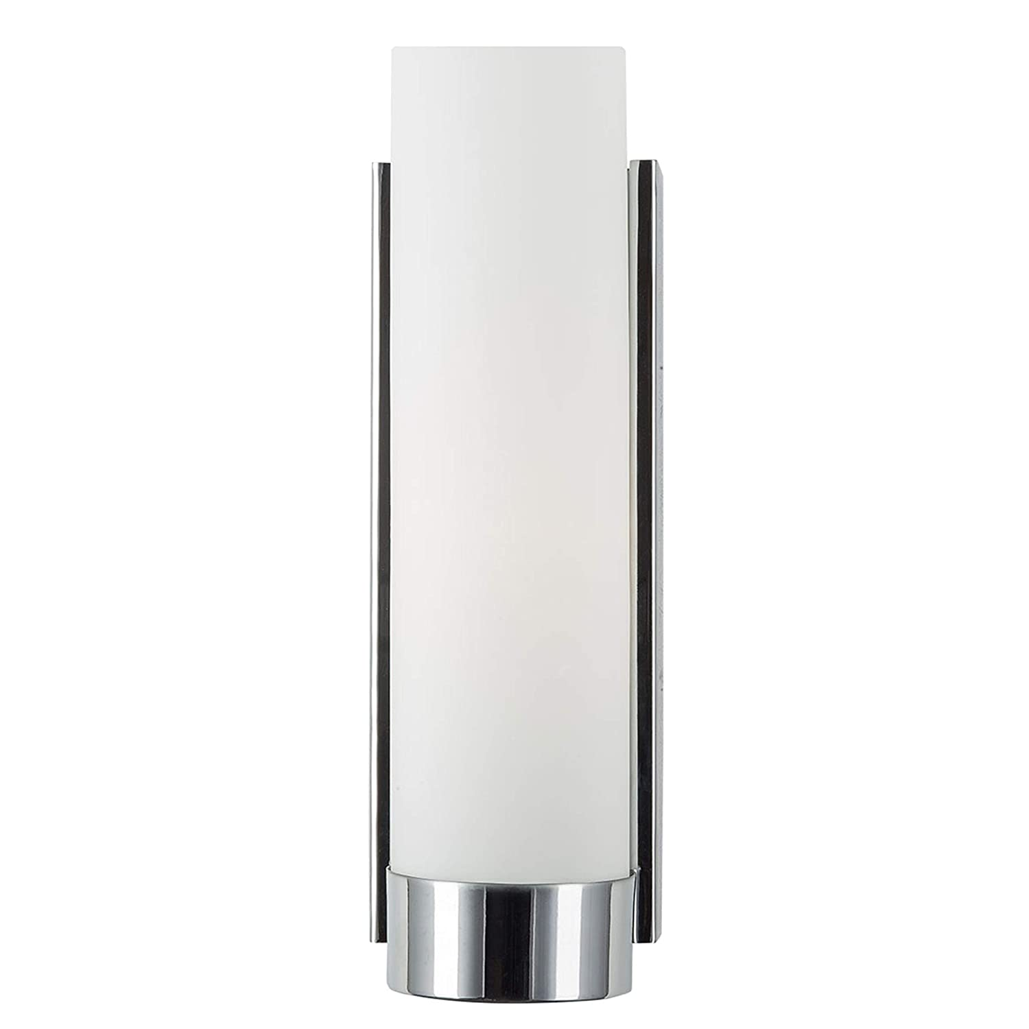 Elina Bathroom Vanity Light Chrome w Frosted Shade – Linea di Liara LL-WL301-PC