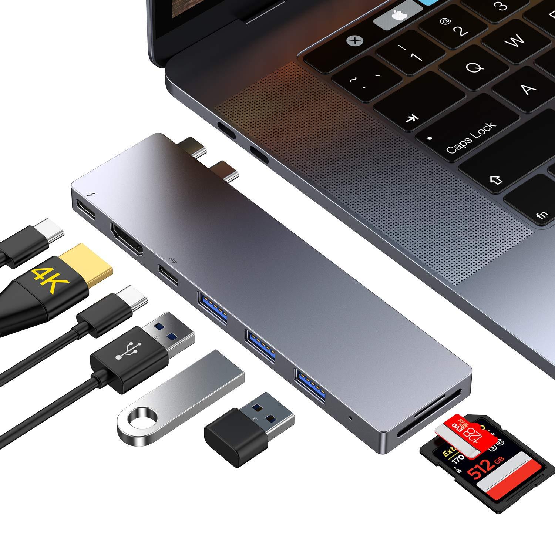 USB 3.0 Adaptateur de Type C avec Thunderbolt 3 Lecteur de Carte SD//Micro SD pour MacBook Pro//Air 2019//2018//2017//2016 Type C MacBook Air 2019//2018 Ofima Hub USB C 8 in 1 HDMI 4K