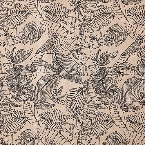 High Fat Cotton Fabric DIY Fashion Design Printed Sewing Crafts Textile Fabric Art Material 39×59 inches(100×150cm) (Leaves)
