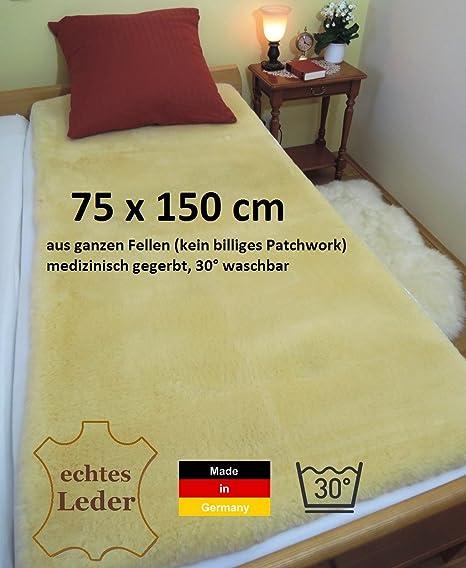 75 x 150 cm, Deutsche LANABEST Piel D cordero Merino para colchón. Öko