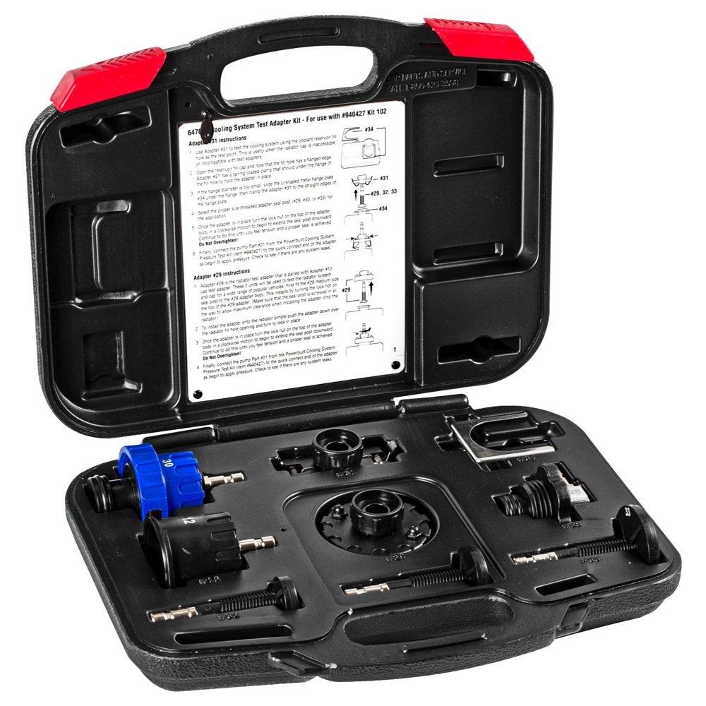 Powerbuilt 647893 8 Pc Radiator Pressure Cooling Tester Adapter Kit by Powerbuilt (Image #1)