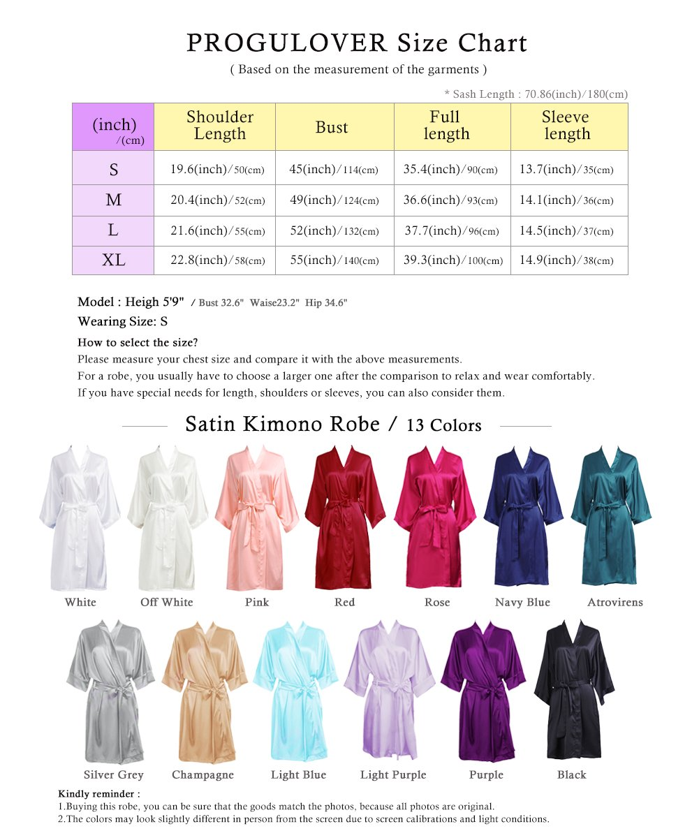 PROGULOVER Set Of Bridesmaid Robes Buy 8 Get 1 Free Rhinestone With Crystals Bridesmaid Gift Personalized Bridesmaid Satin Bride Robes Shower by PROGULOVER (Image #5)
