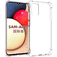 USTIYA Funda para Samsung Galaxy A02S Case (Internacional) Carcasa Bumper,Shock-Absorción TPU Transparente con Cuatro…