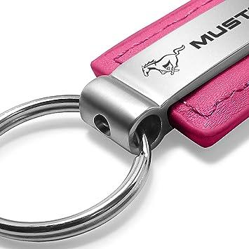 Amazon.com: Ford Mustang rosa llavero de piel: Automotive