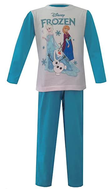 NEW WITH TAGS GIRLS OFFICIAL DISNEY FROZEN LONG  SLEEVE PYJAMAS SET