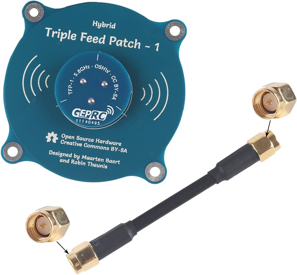 Crazepony-UK LANTIAN 5.8G FPV Antena Panel Pagoda Pro 9.4 dBi Alto Ganancia TX RX RP-SMA Hembra y SMA Macho para FPV Racing Drone