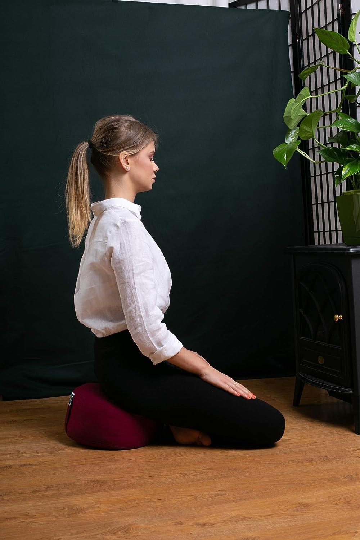 Cojín de Asiento de Meditación para Yoga o Relajación Visita la Store de Present Mind