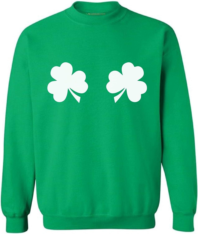 Awkward Styles Shamrocks Sweatshirt Shamrock Green Sweater for St Patricks Day
