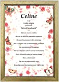 PERSONALISED FIRST NAME MEANING & ORIGIN GIFT in a pretty Butterflies & Roses background - Unique & Ideal Birthday, Valentine's Day or Christmas Presents for someone special