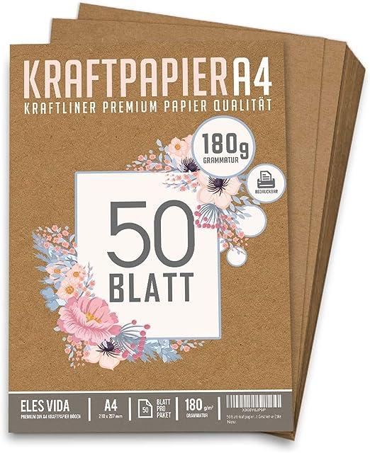 Bastelpapier A4 Vintage 60 Blatt braun 80 Gramm Bastelkarton  Hochzeit basteln