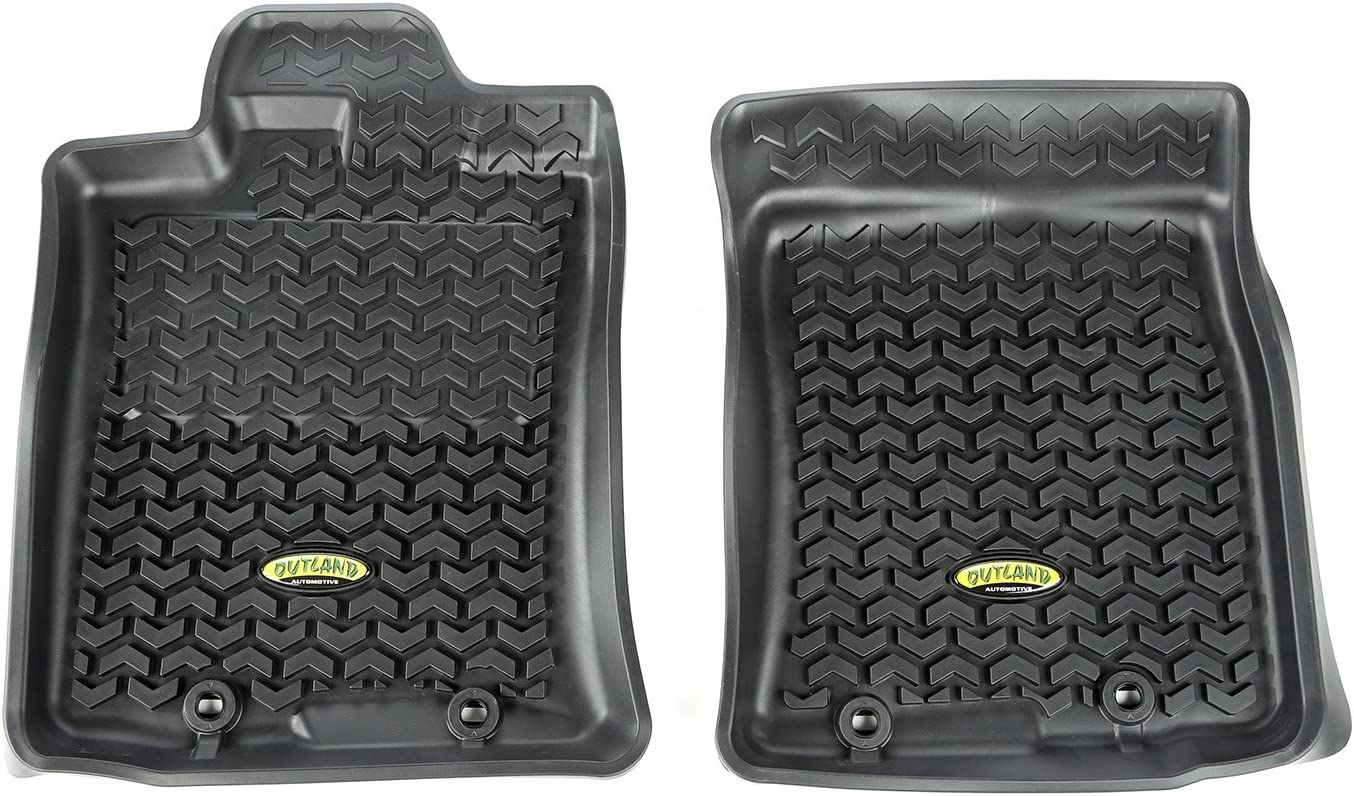Outland 398290435 Black Front Row Floor Liner For Select Toyota FJ Cruiser Models