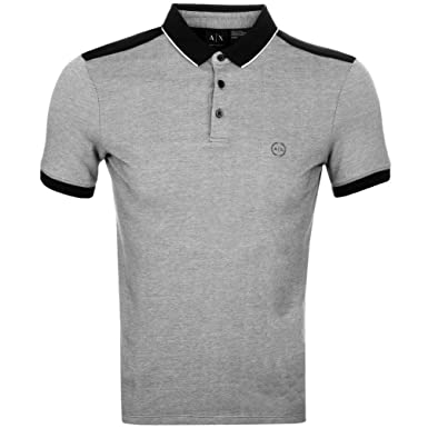 48c7c7ede525 Mens Armani Exchange Polo T Shirt Black - XX Large  Amazon.co.uk  Clothing