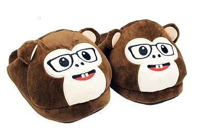 HTUK® Monkey Slippers Animal Plushed Stuffed Slippers Unisex Womens Mens  One Size Super Soft Slippers 75a238054e