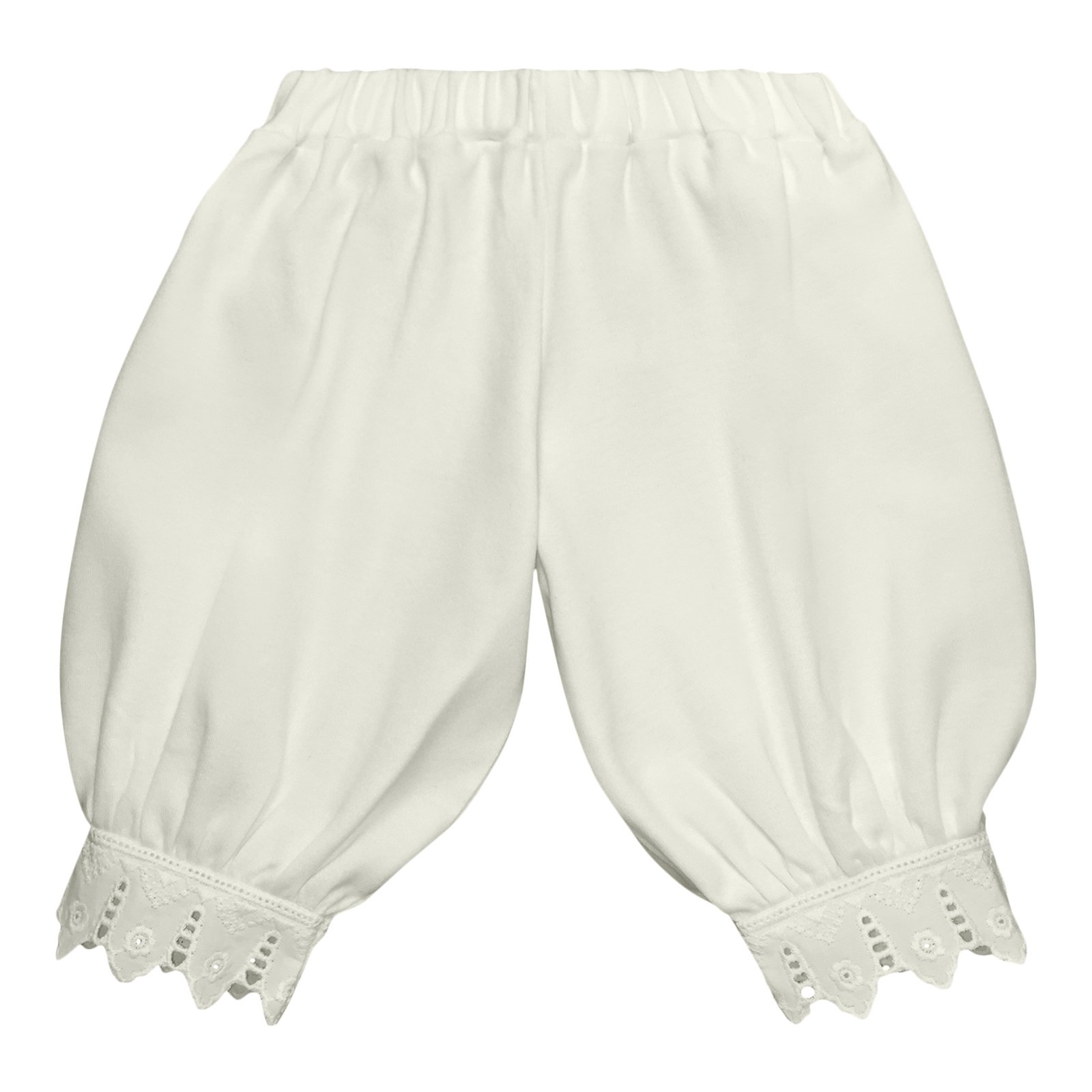 Victorian Organics Little Girl Toddler Pantaloon Organic Cotton Lace Long Pant (3T 3 Toddler, Off-White)