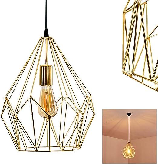 Suspension Badalucco en acier doré Luminaire pour salon chambre à coucher cuisine salle à manger