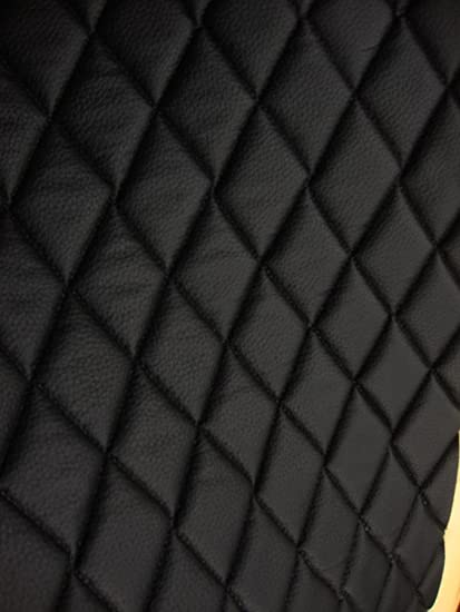 Amazon Com Vinyl Leather Faux Vinyl Black Quilted Vinyl Auto