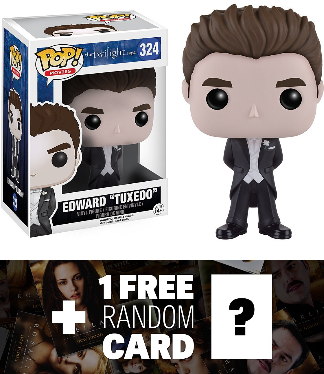 Edward Cullen (タキシード) : Funko POP 。X The Twilight Sagaビニールフィギュア+ 1 Free official Twilight Tradingカードバンドル( 097660 ) B01LPJYUQY