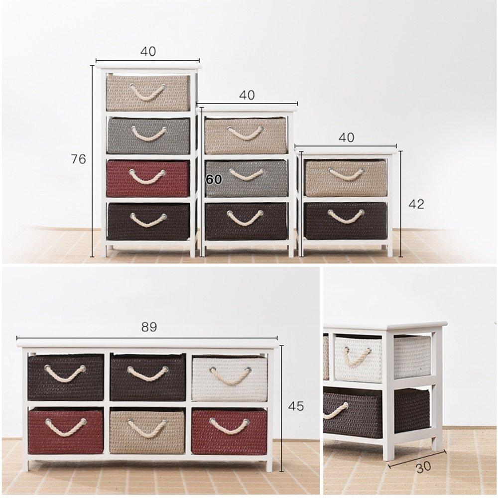 größe : B-40 * 30 * 60 Nachttisch Fly Schlafzimmer Kommode Aufbewahrungsschränke Im Europäischen Stil Schließfächer Rattan Schrank Schlafzimmer