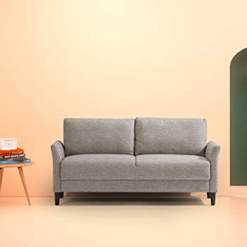 Superbe Zinus Classic Upholstered 71in Sofa/Living Room Couch, Soft Grey