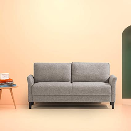 amazon com zinus classic upholstered 71in sofa living room couch