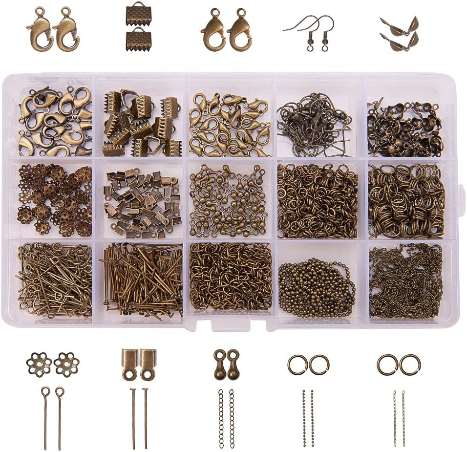 Crimp End Beads Round 4//6mm Jewelry Making Findings Wholesale 50-120pcs 20g