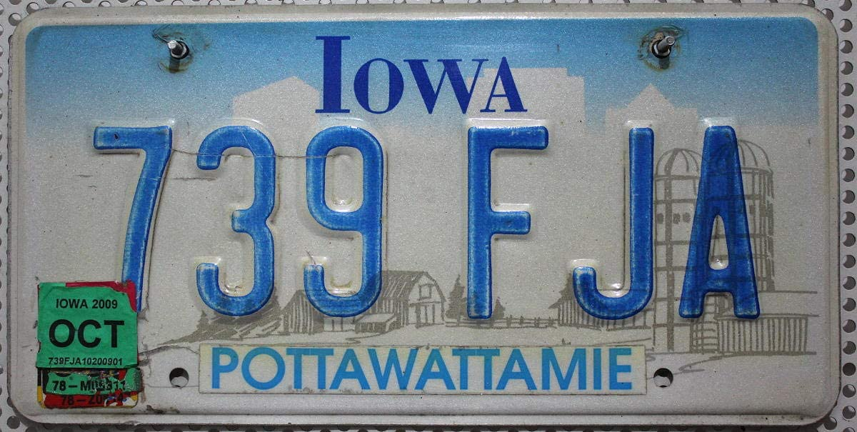 Usa Kennzeichen Iowa Nummernschild Us License Plate Kfz Blechschild Küche Haushalt