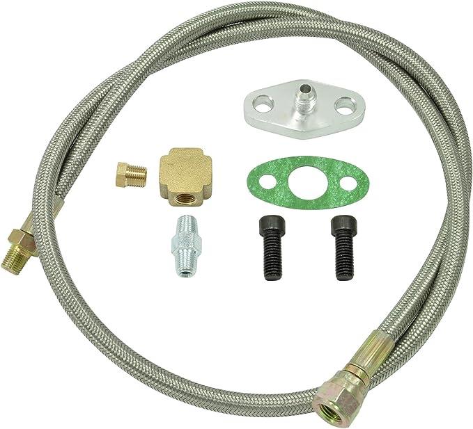 Öl Zulauf Leitung Set Adapter Turbolader Garrett Gt25 Gt28 Gt30 Gt35 Restriktor Auto