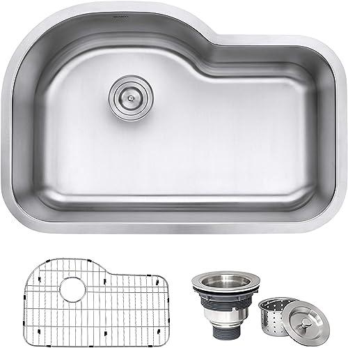 Ruvati RVM4700 Undermount 16 Gauge 32 Kitchen Sink Single Bowl