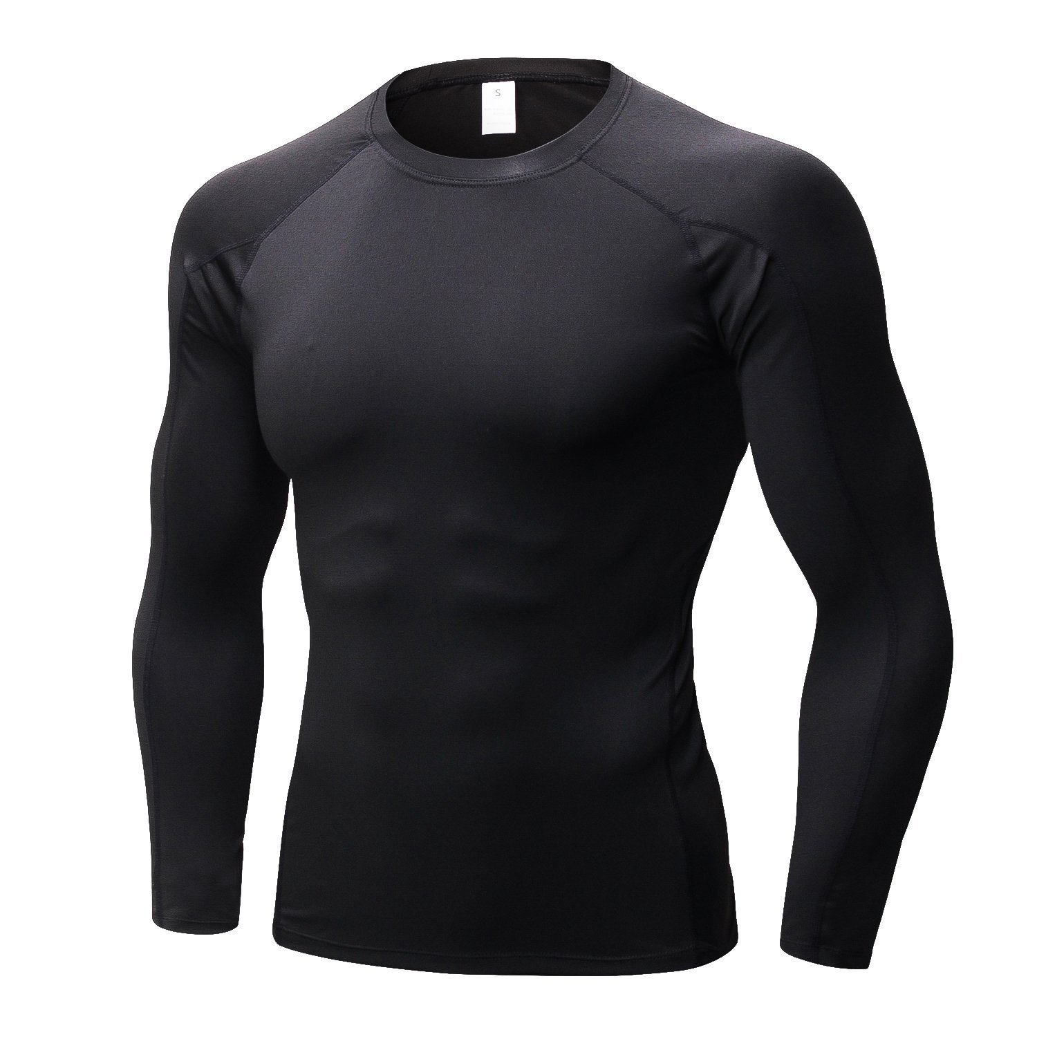Onlyway Mens Quick-Dry Long Sleeve T-Shirt Breathable Baselayer Compression Top