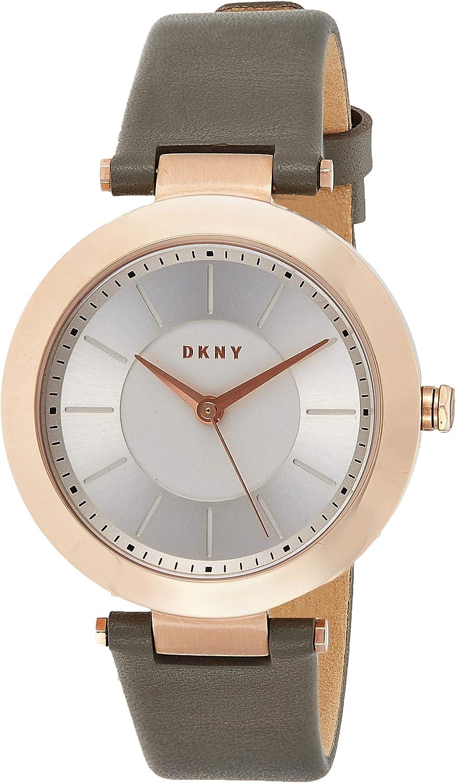 DKNY Reloj analogico para Mujer de Cuarzo con Correa de Cuero NY2296