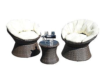 Groovy Littleborough Furniture Company Rattan Aluminium 2 Seat Swivel Bistro Set In Brown Forskolin Free Trial Chair Design Images Forskolin Free Trialorg