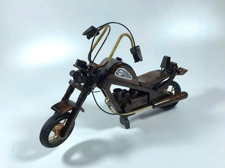 Chopper Harley Handmade Cruiser Miter Model Decorative Wood Motorcycle Dimensione 45cm - Handgefertigter Cruiser Mitre Modell Dekoratives Holz Motorrad (Dimensione 45 cm)