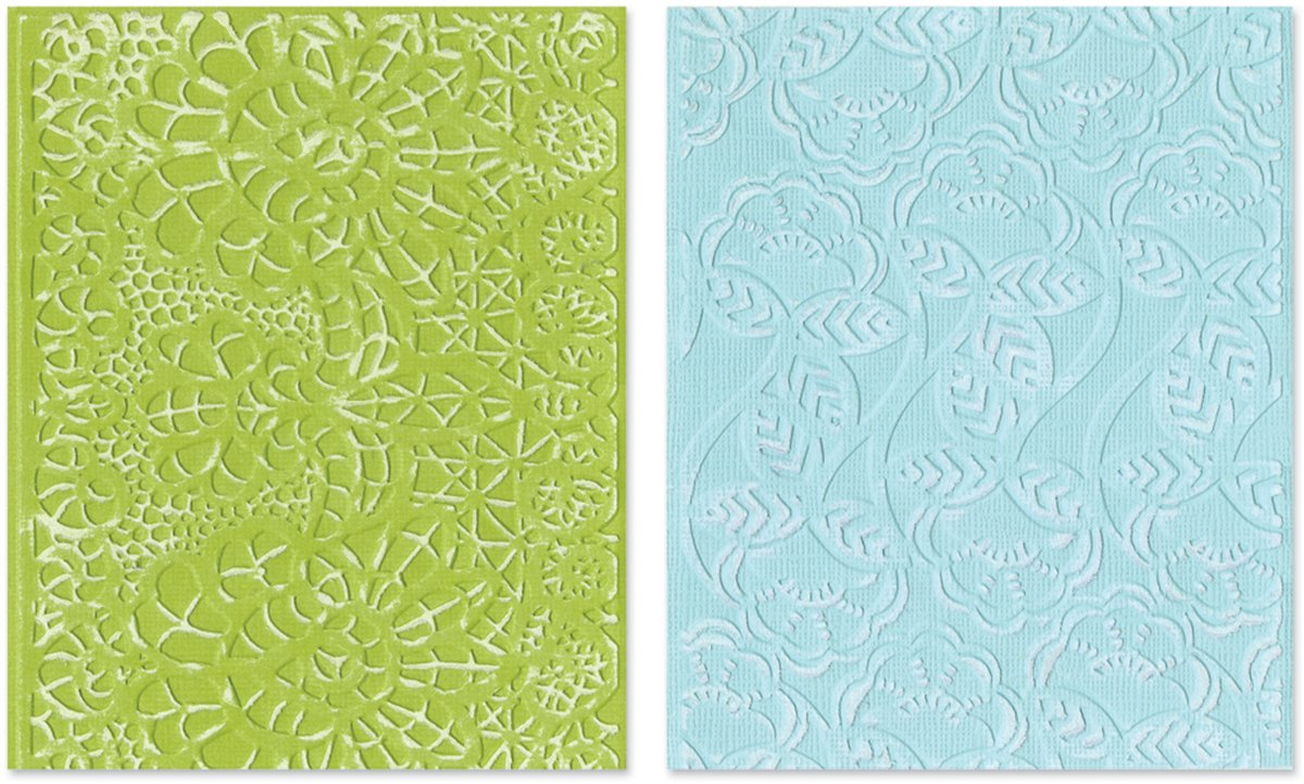 Sizzix Textured Impressions Embossing Folders 2PK - Bohemian Lace Set by Rachael Bright