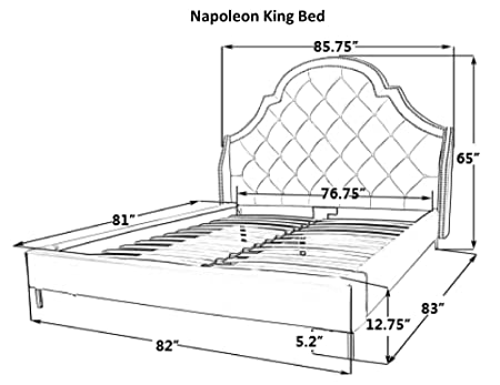 Amazon Com Iconic Home Nero Bed Frame With Wingback Headboard