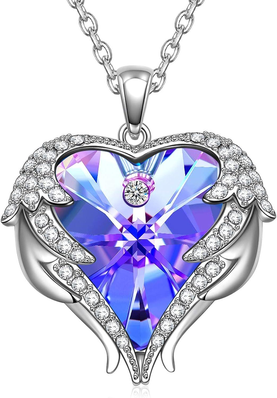 Tellement Amoureux Emballage de Bo/îte-Cadeau Exquis Kate Lynn Cadeau Fete des Meres Cristal de Swarovski Collier Design Original,pour Elle