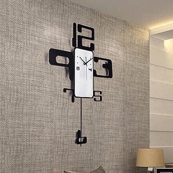 TXXM Relojes de pared Reloj de Pared Minimalista Creativo Moderno Reloj de la Personalidad de la Moda atmosférica Digital Sala de Estar Restaurante Reloj de ...