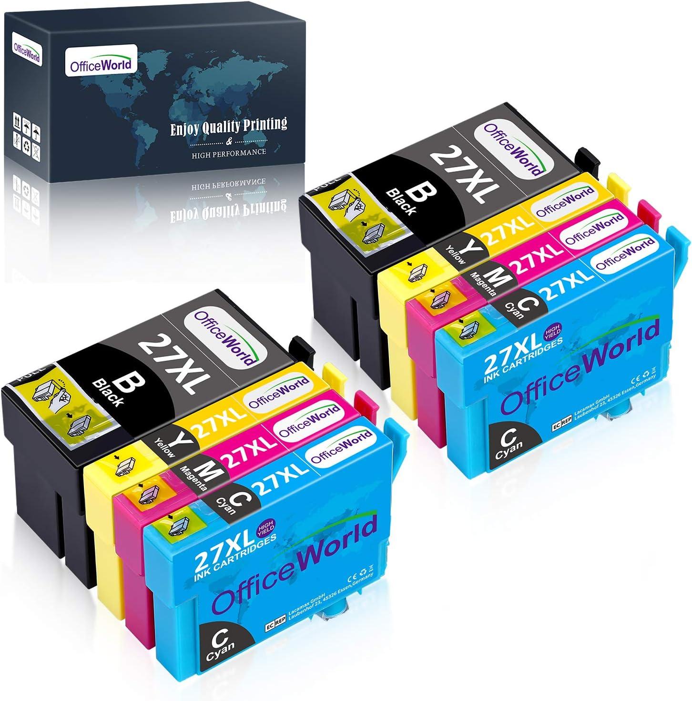 OfficeWorld 27XL Alta Capacidad Cartuchos de Tinta Compatible para ...