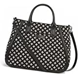 Vera Bradley Trapeze Tote Bag in Mini Concerto Black