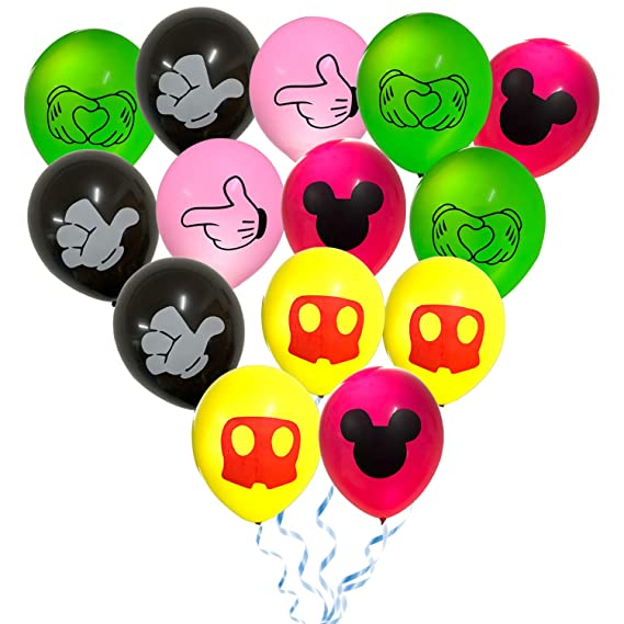 Amazon.com: Paquete de 50 globos de Mickey Mouse, 12 ...