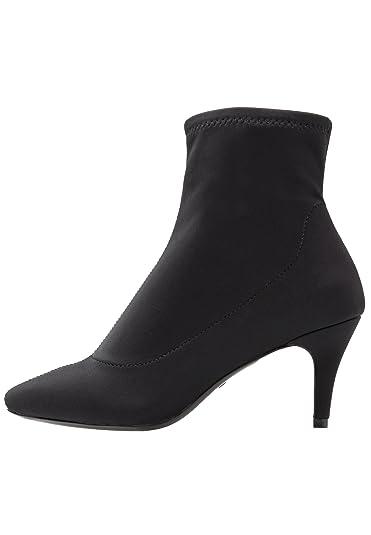 4fa45d63ca3 Even ODD Women s Slip-On Sock Boots - Kitten Heel Stiletto Ankle Boots Faux  Suede in