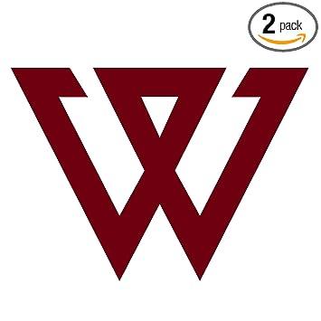 Angdest winner kpop logo kpop burgundy waterproof vinyl decal stickers for laptop phone helmet