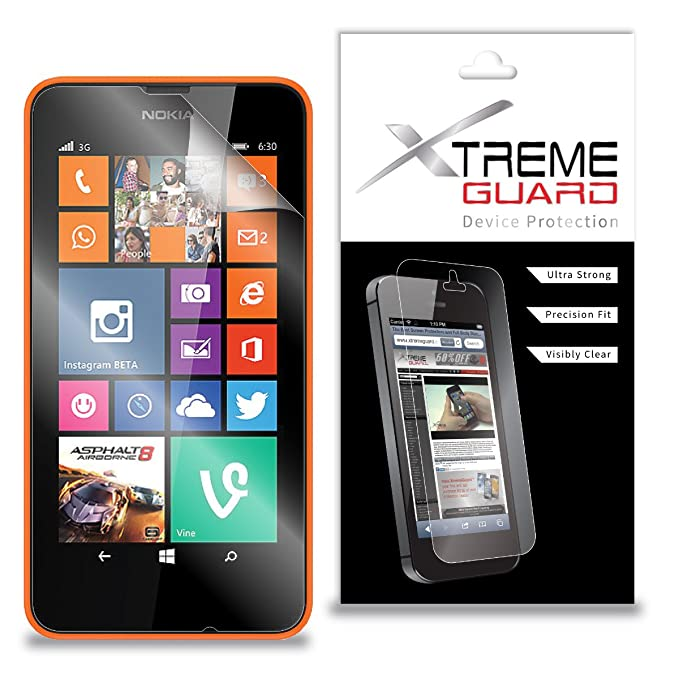c6730d21c44 Amazon.com: XtremeGuard™ Screen Protector for Nokia Lumia 635 (Ultra  Clear): Cell Phones & Accessories