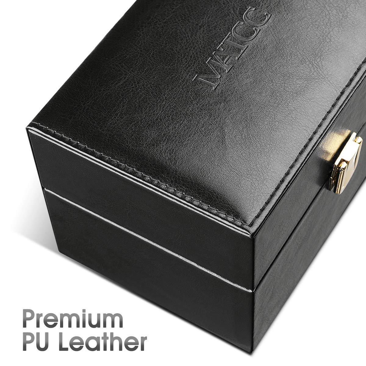 MATCC Car Signal Blocker Box Faraday Box for Car Keys Phones Bank Cards Bluetooth Signal Blocker Security Anti-Theft PU Leather Large Storage Box