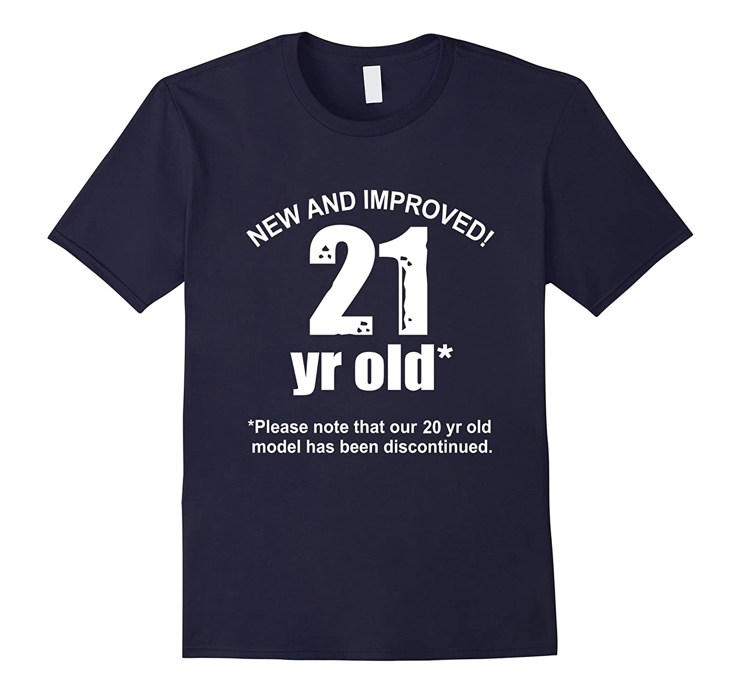 21st funny birthday gift for him her humor New And Improved-BN