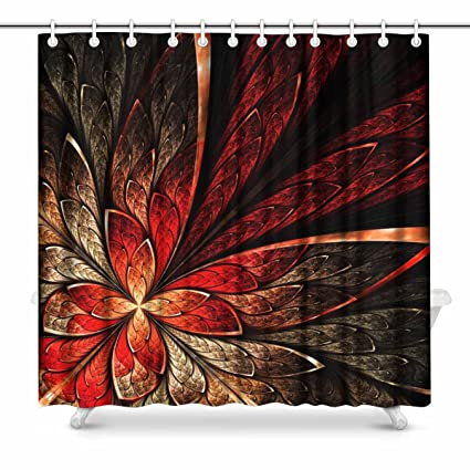 Amazon INTERESTPRINT Beautiful Fractal Flower In Yellow And Red
