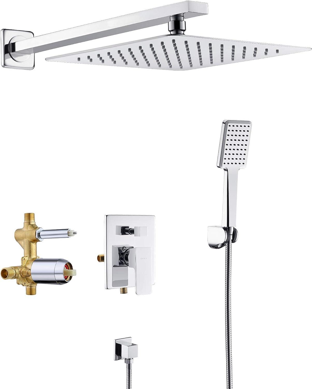 10 inch 3 Setting High Pressure Rainfall Shower Head Chrome Handheld Spray