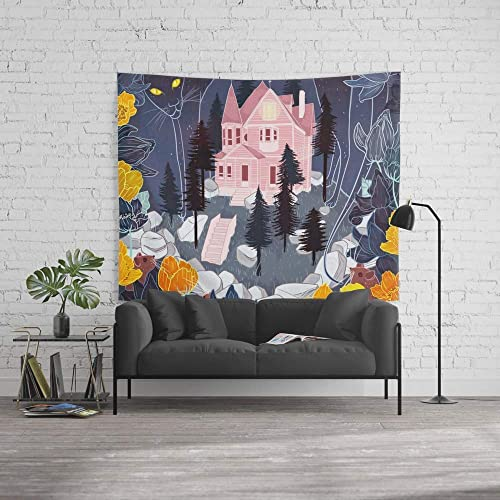 wenhuamucai Wall Tapestry, Size Large 60 x 51, Coraline Decor for Living Room Bedroom Dorm