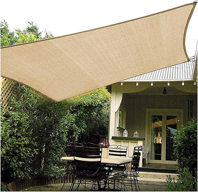 SUNDUXY Toldo Vela de Sombra Rectangular Impermeable rectángulo ...
