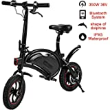 shaofu Folding Electric Bicycle – 350W 36V Waterproof E-Bike with 15 Mile Range, Collapsible Frame, and APP Speed Setting