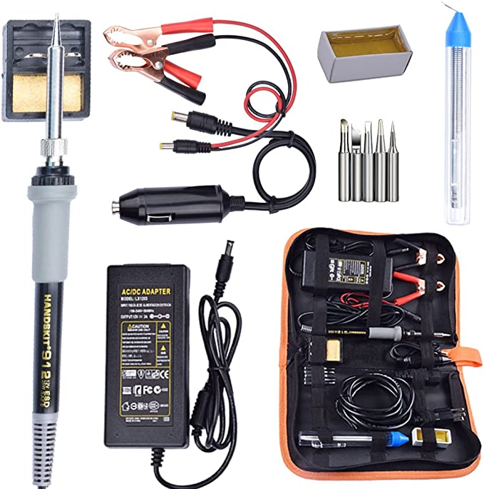 DC 12V 40W Portable Car Auto Clip Powered Electric Soldering Iron Set